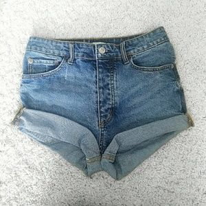 High Rise H&M denim shorts